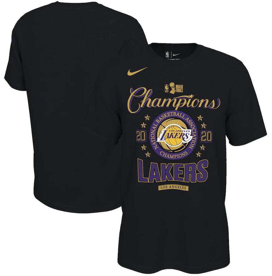 Men's Los Angeles Lakers Nike Black 2020 NBA Finals Champions Locker Room T-Shirt