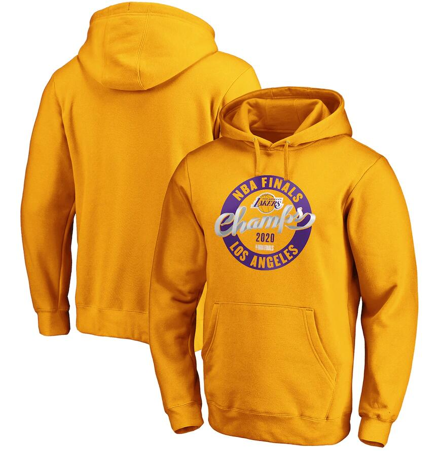 Men's Los Angeles Lakers Gold 2020 NBA Finals Champions Zone Laces Pullover Hoodie