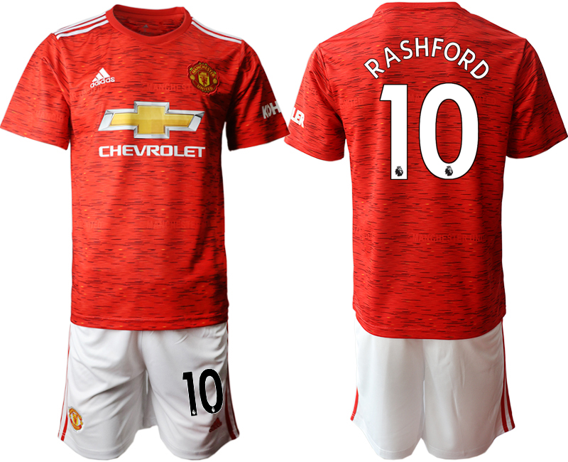 2020-21 Manchester United 10 RASHFORD Home Soccer Jersey