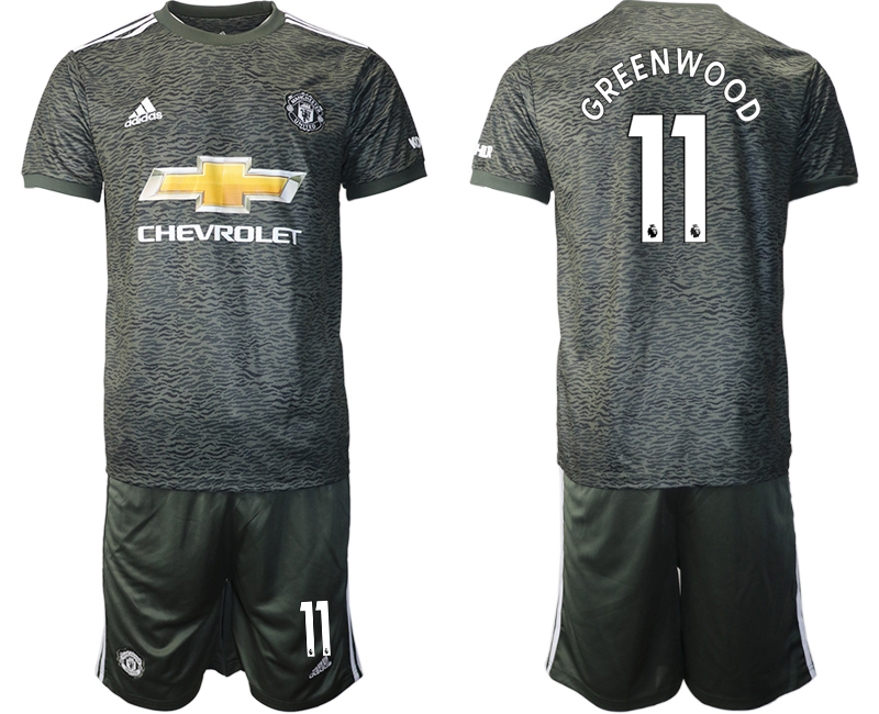 2020-21 Manchester United 11 GREENWOOD Away Soccer Jersey