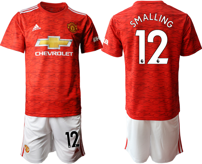 2020-21 Manchester United 12 SMALLING Home Soccer Jersey