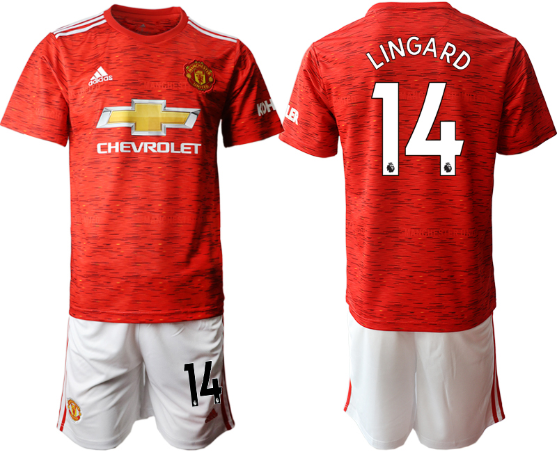2020-21 Manchester United 14 LINGARD Home Soccer Jersey