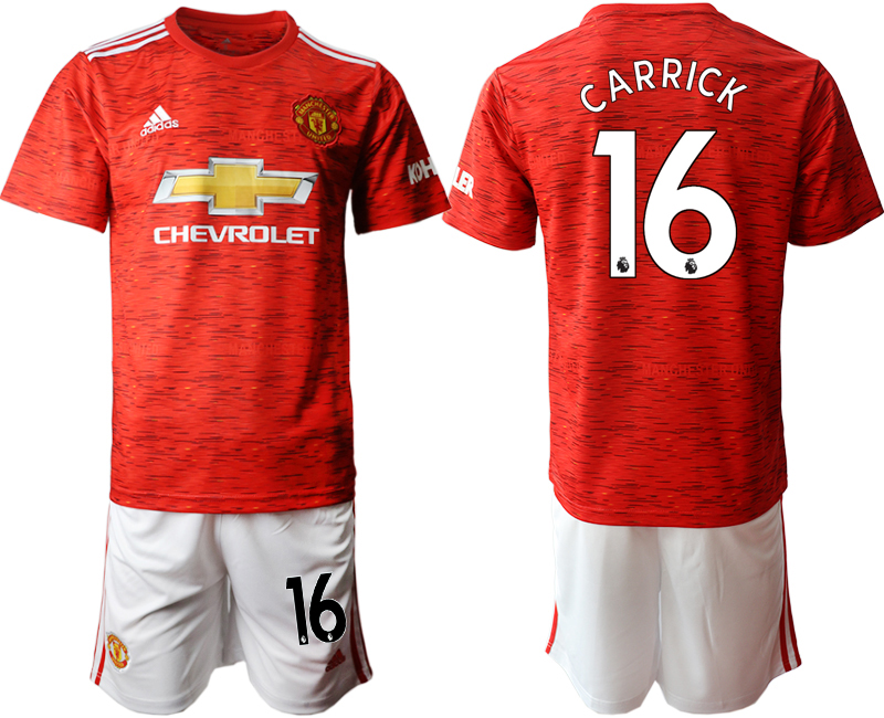 2020-21 Manchester United 16 CARRICK Home Soccer Jersey