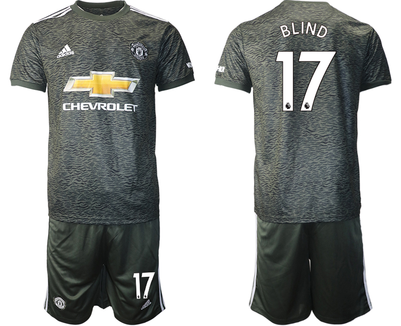 2020-21 Manchester United 17 BLIND Away Soccer Jersey
