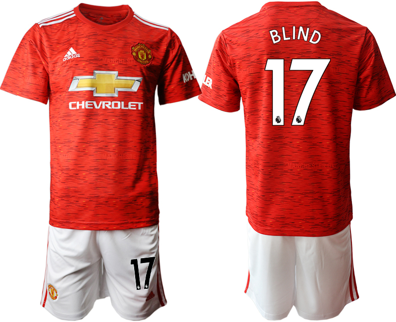 2020-21 Manchester United 17 BLIND Home Soccer Jersey