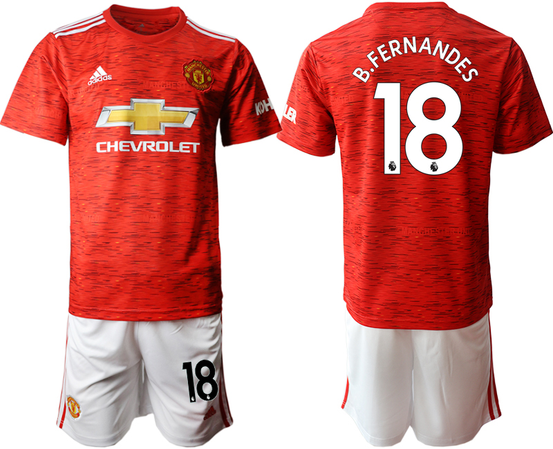 2020-21 Manchester United 18 B.FERNANDES Home Soccer Jersey
