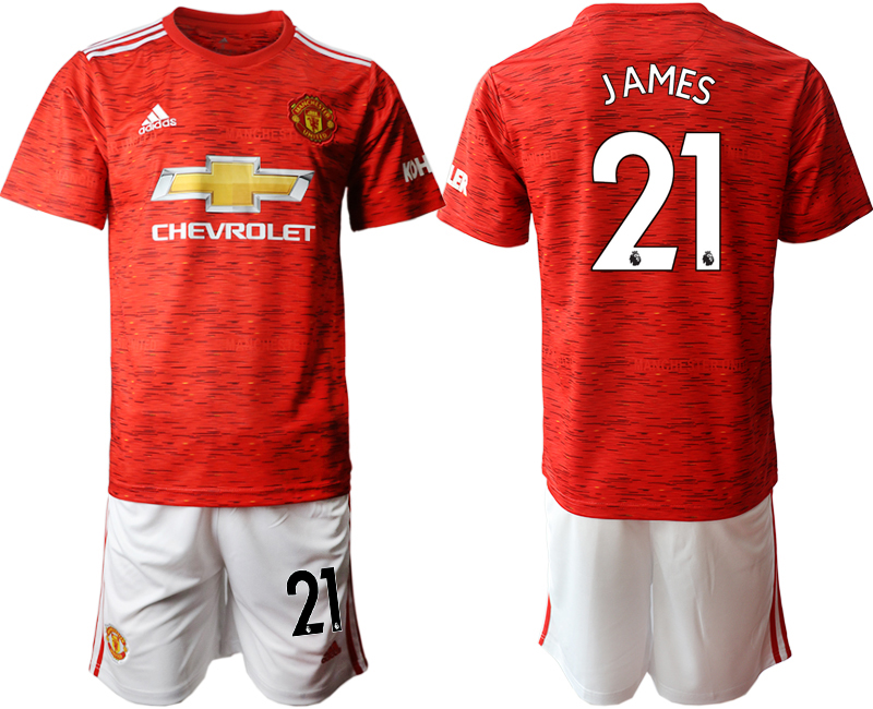2020-21 Manchester United 21 JAMES Home Soccer Jersey