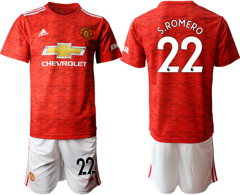 2020-21 Manchester United 22 S.ROMERO Home Soccer Jersey