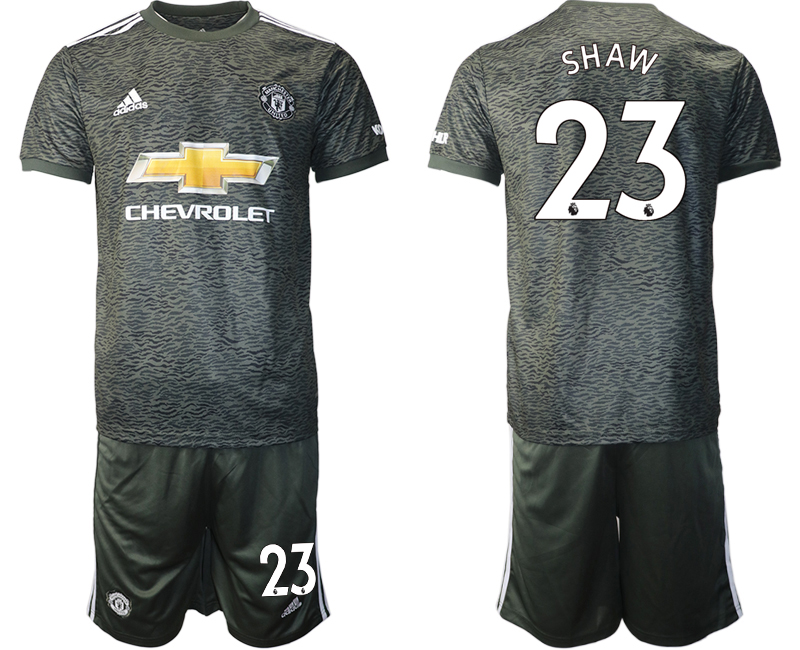 2020-21 Manchester United 23 SHAW Away Soccer Jersey