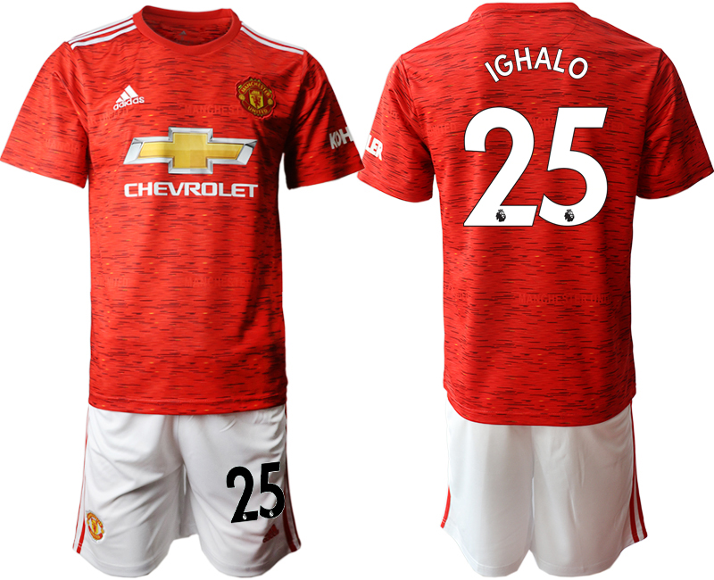2020-21 Manchester United 25 IGHALO Home Soccer Jersey