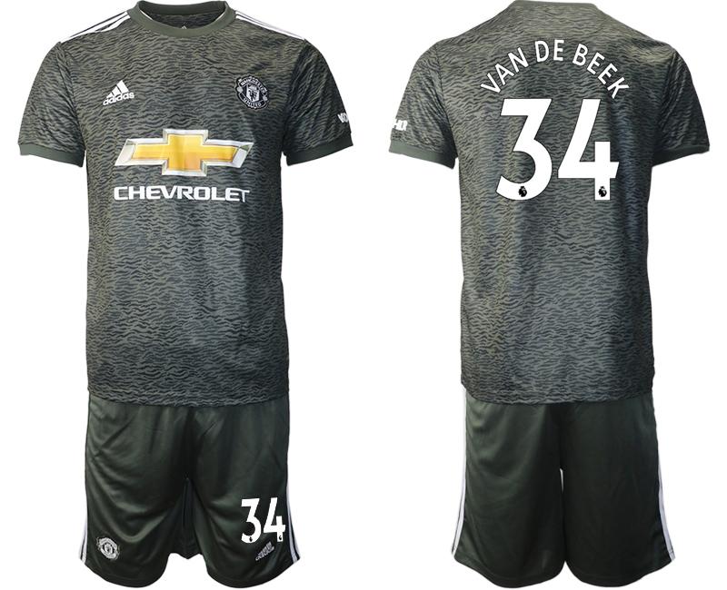 2020-21 Manchester United 34 VAN DE BEEK Away Soccer Jersey