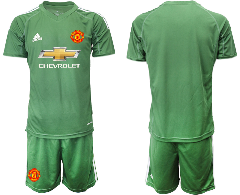 2020-21 Manchester United Army Green Goalkeeper Soccer Jersey
