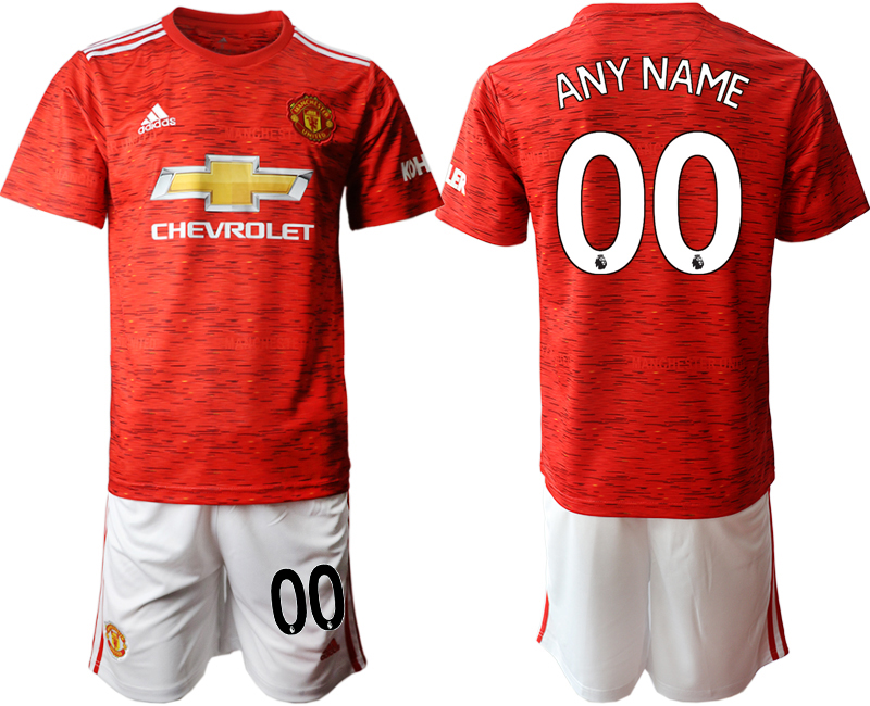 2020-21 Manchester United Customized Home Soccer Jersey