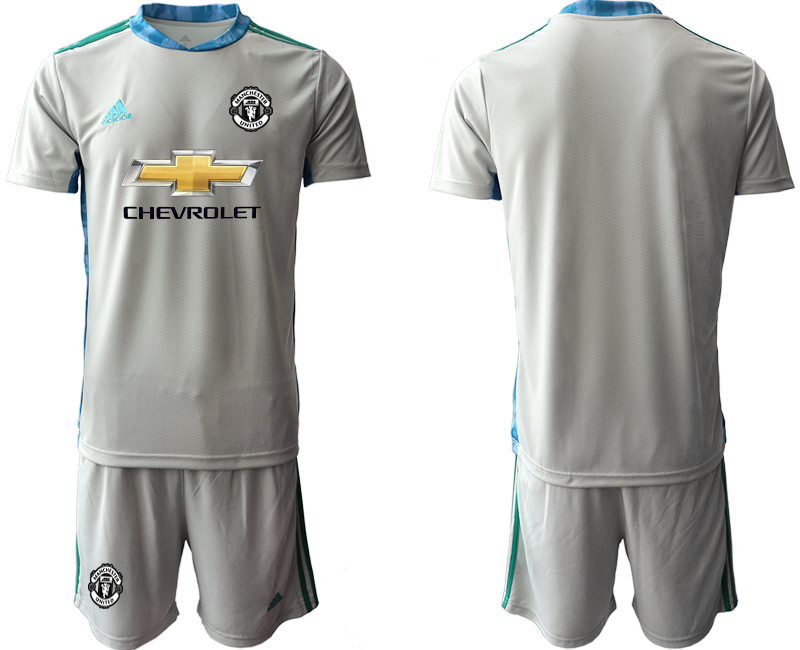 2020-21 Manchester United Gray Goalkeeper Soccer Jersey