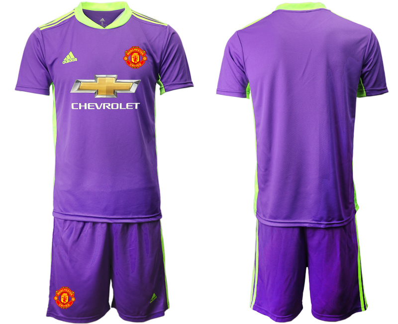 2020-21 Manchester United Purple Goalkeeper Soccer Jersey