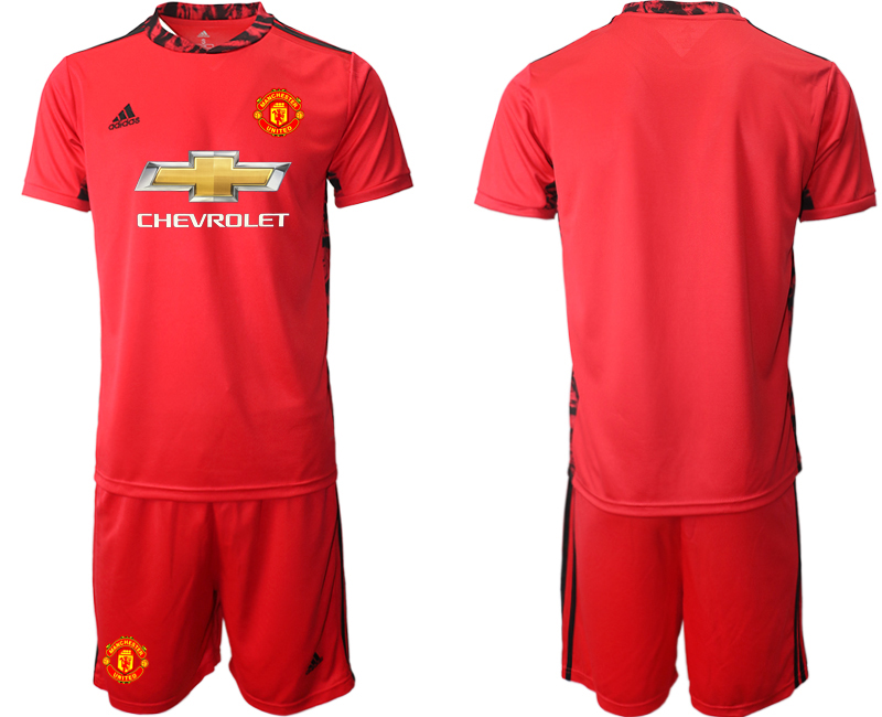 2020-21 Manchester United Red Goalkeeper Soccer Jersey