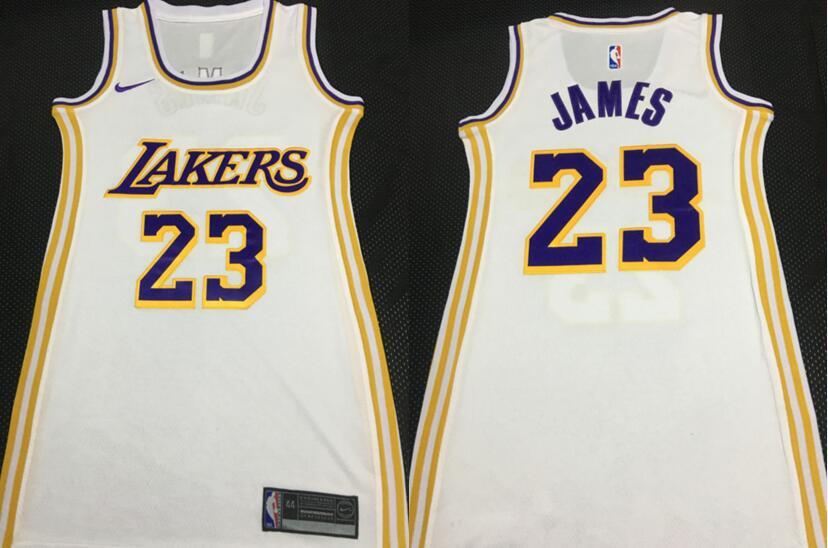Lakers 23 Anthony Davis White Women Nike Swingman Jersey