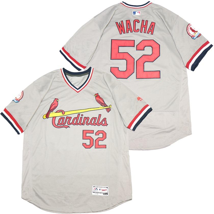 Cardinals 52 Michael Wacha Gray Throwback Jersey