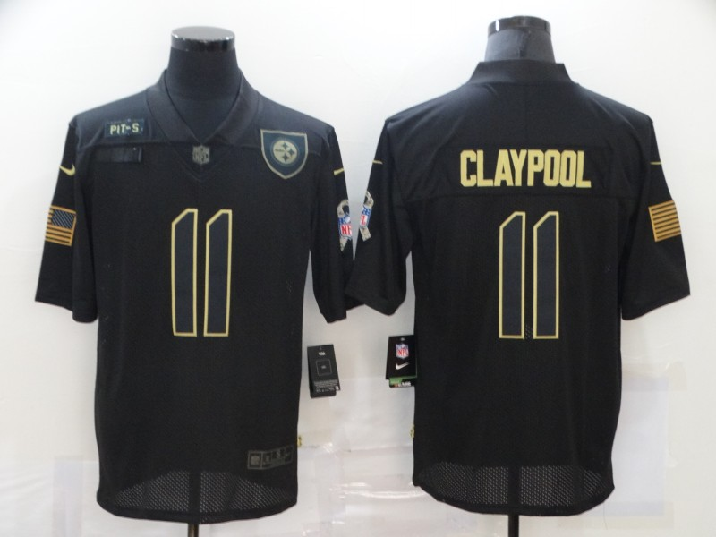 Nike Steelers 11 Chase Claypool Black 2020 Salute To Service Limited Jersey