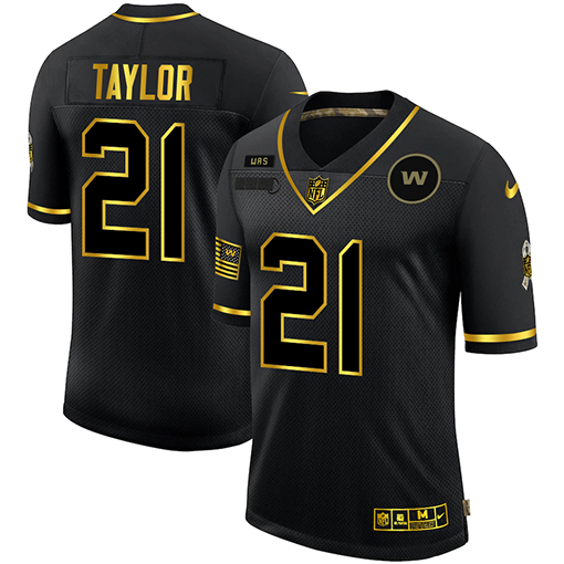 Nike Washington Football Team 21 Sean Taylor Black Gold Vapor Untouchable Limited Jersey