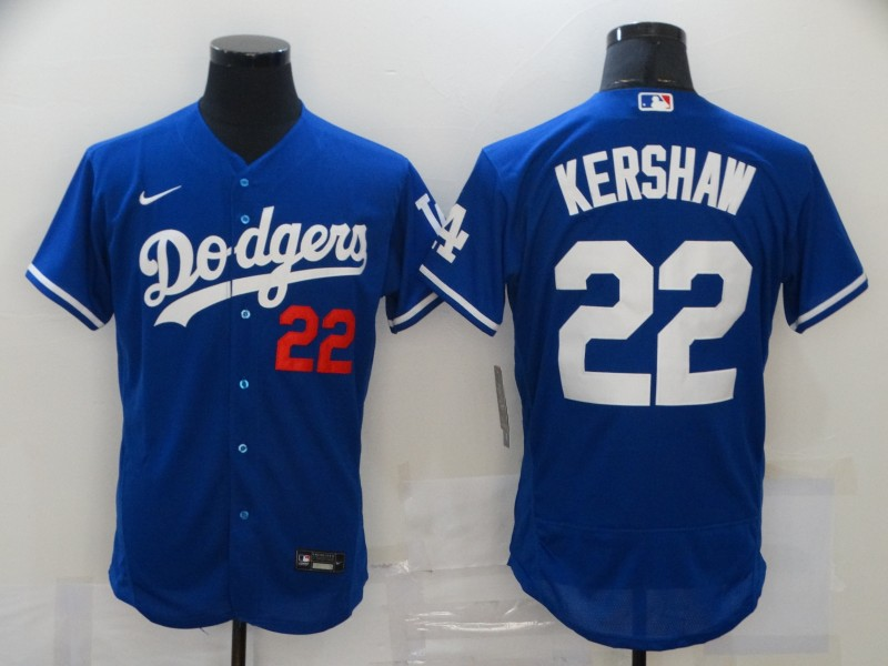 Dodgers 22 Clayton Kershaw Royal 2020 Nike Flexbase Jersey
