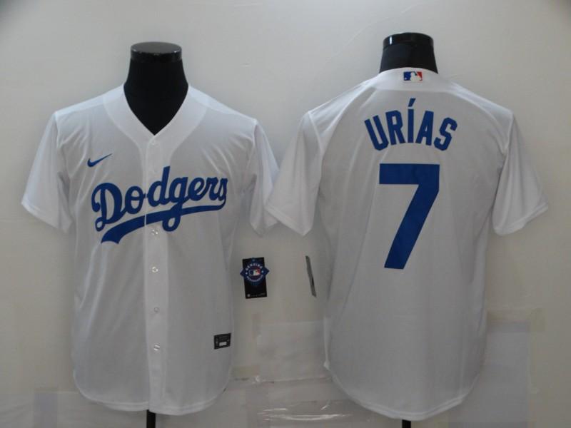 Dodgers 7 Julio Urias White 2020 Nike Cool Base Jersey