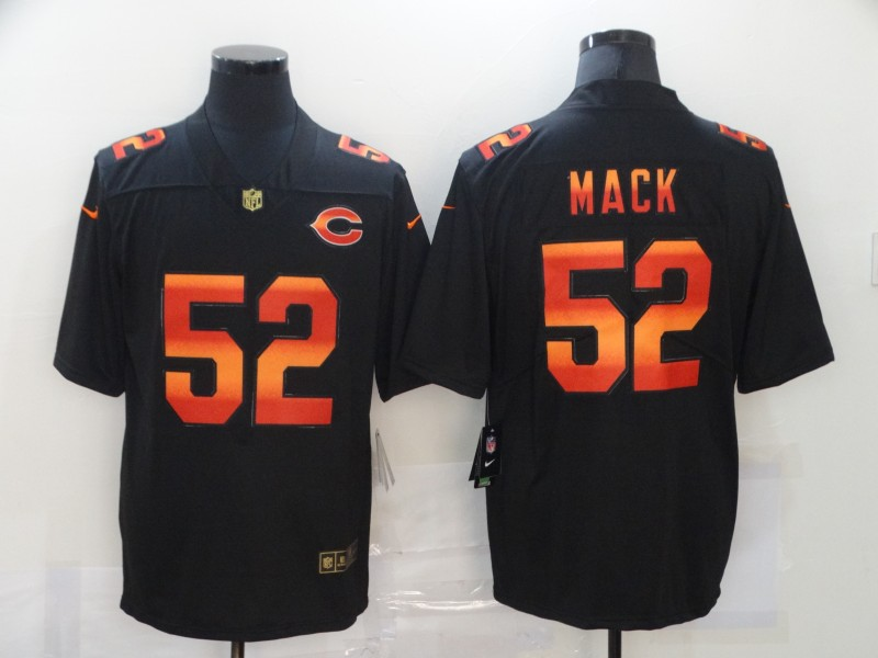 Nike Bears 52 Khalil Mack Black Colorful Fashion Limited Jersey