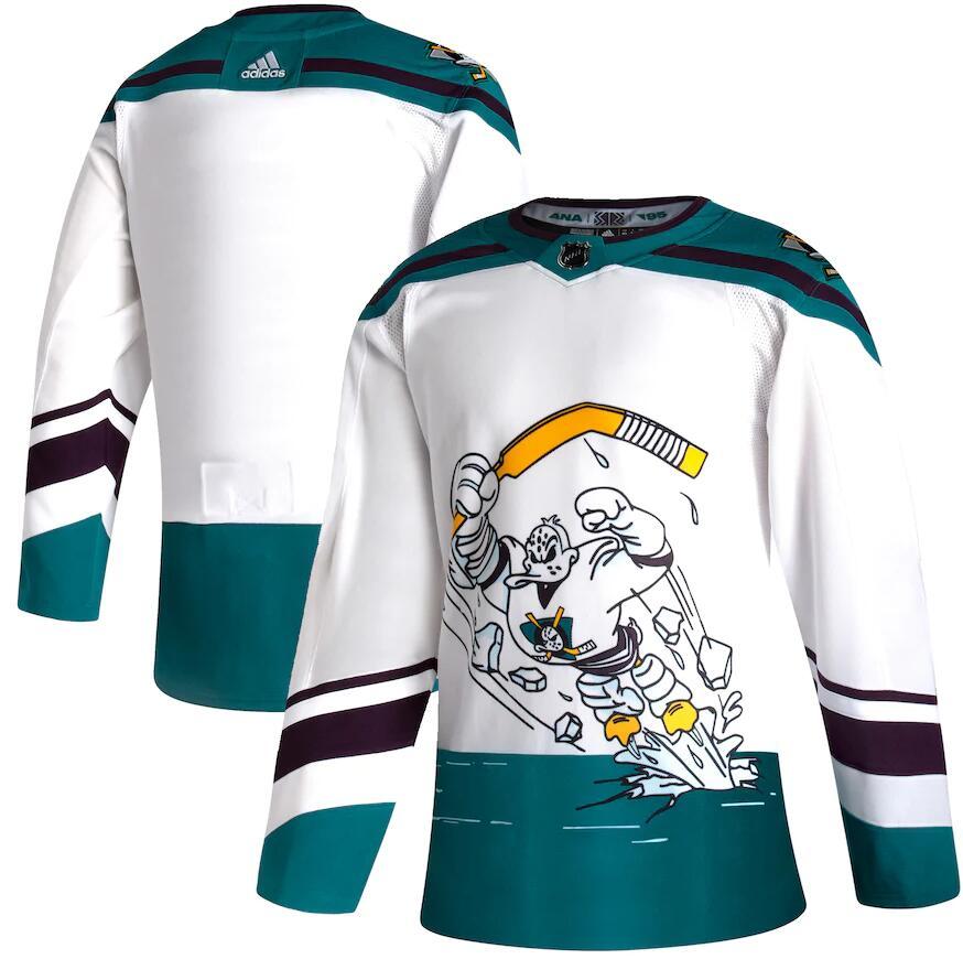 Ducks Blank White 2020-21 Reverse Retro Adidas Jersey