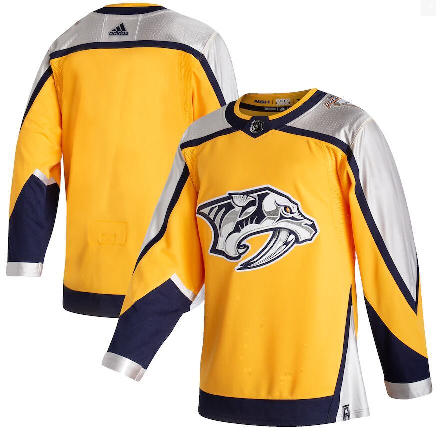 Predators Blank Yellow 2020-21 Reverse Retro Adidas Jersey