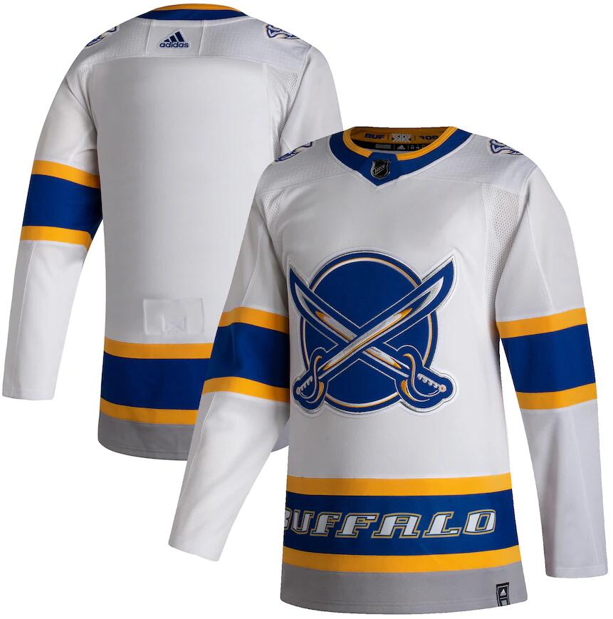 Sabres Blank White 2020-21 Reverse Retro Adidas Jersey