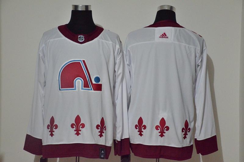 Avalanche Blank White 2020-21 Reverse Retro Adidas Jersey