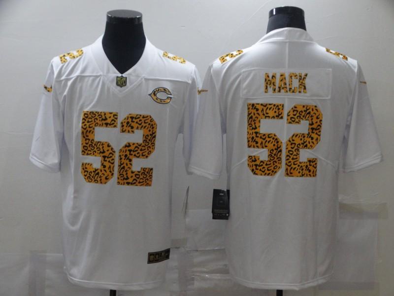 Nike Bears 52 Khalil Mack White Leopard Vapor Untouchable Limited Jersey