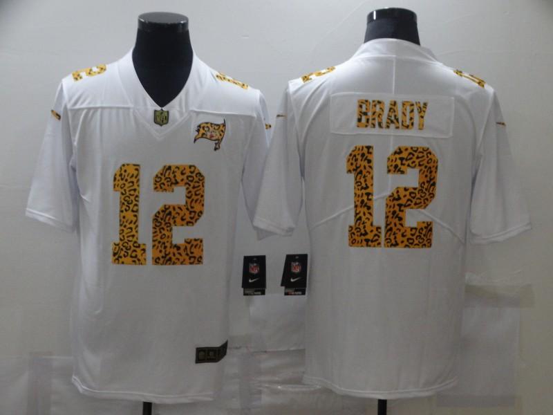 Nike Buccaneers 12 Tom Brady White Leopard Vapor Untouchable Limited Jersey