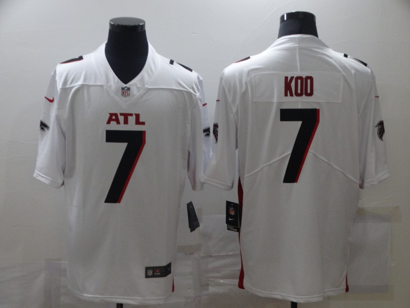 Nike Falcons 7 Younghoe Koo White New Vapor Untouchable Limited Jersey