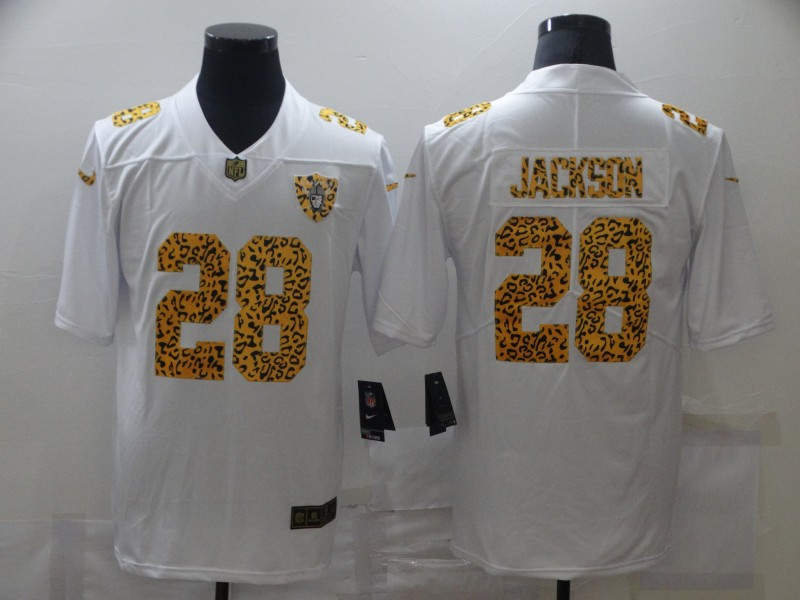 Nike Raiders 28 Josh Jacobs White Leopard Vapor Untouchable Limited Jersey