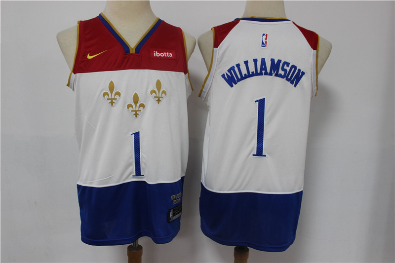 Pelicans 1 Zion Williamson White 2020-21 City Edition Nike Swingman Jersey