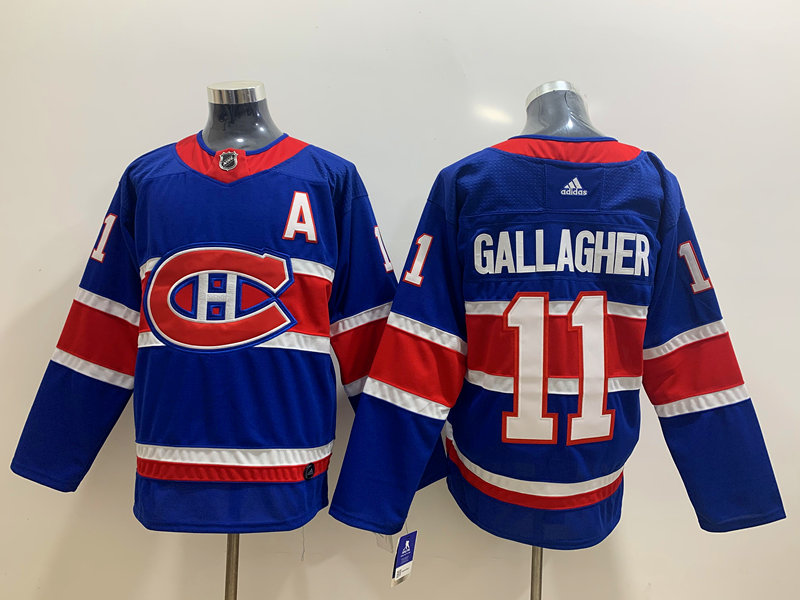 Canadiens 11 Brendan Gallagher Blue 2020-21 Reverse Retro Adidas Jersey