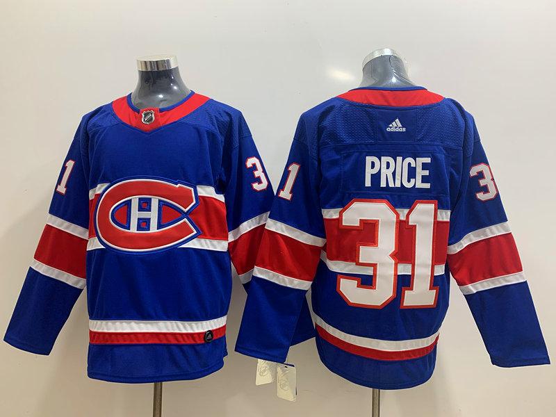 Canadiens 31 Carey Price Blue 2020-21 Reverse Retro Adidas Jersey