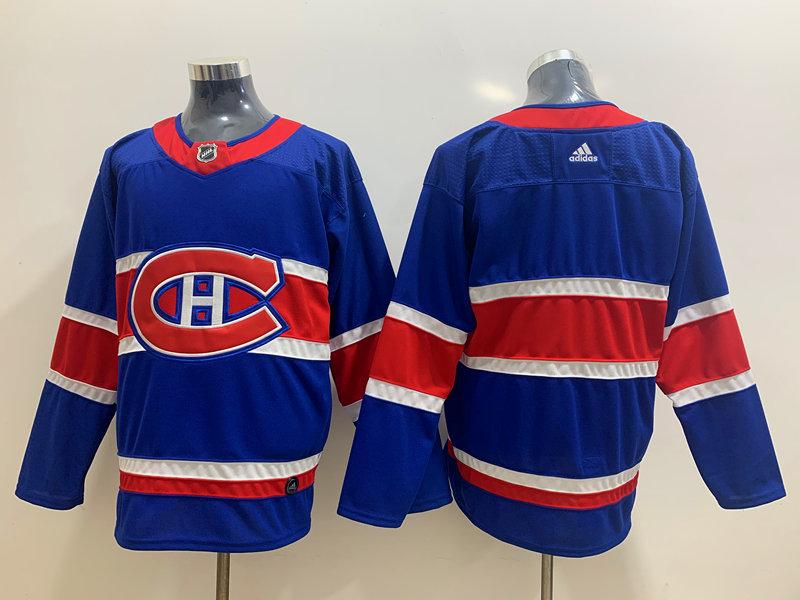 Canadiens Blank Blue 2020-21 Reverse Retro Adidas Jersey