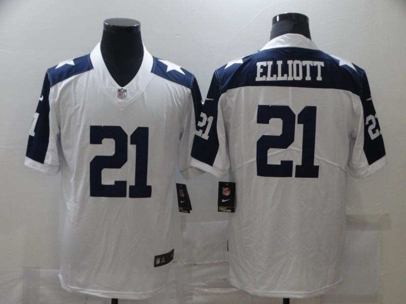 Nike Cowboys 21 Ezekiel Elliott White Vapor Untouchable Limited Jersey