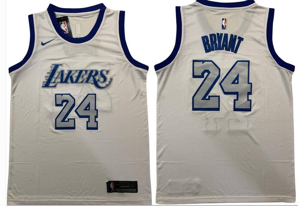 Lakers 24 Kobe Bryant White Nike Swingman Jersey