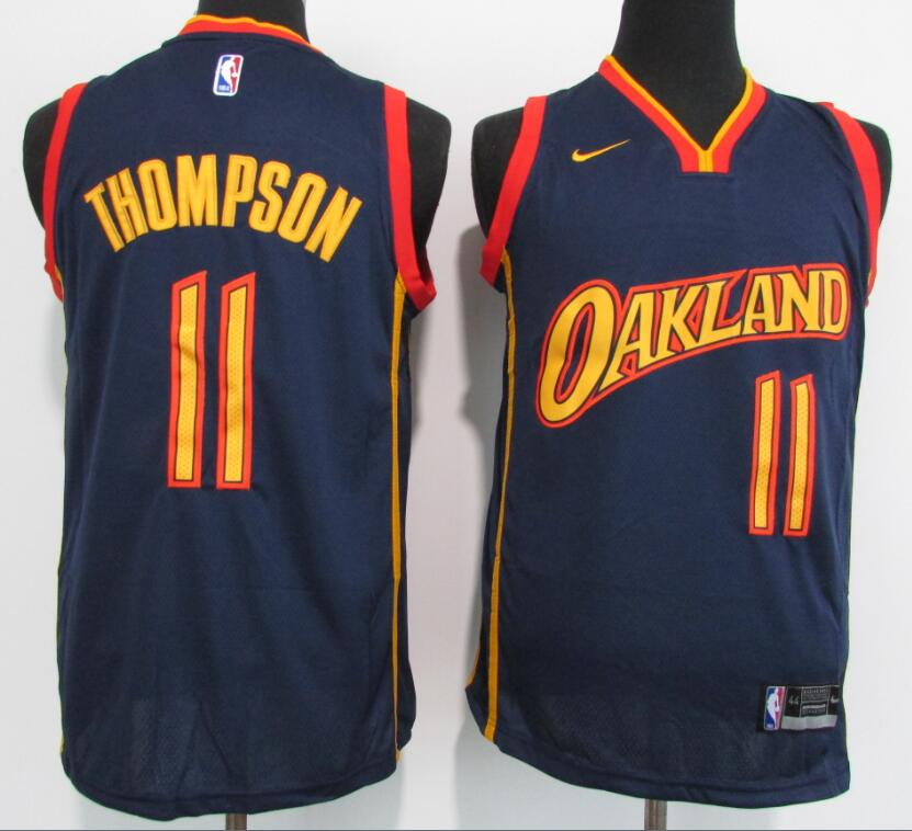 Warriors 11 Klay Thompson Navy 2021 New Nike Swingman Jersey