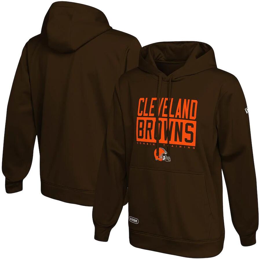 Men's Cleveland Browns New Era Brown School of Hard Knocks Pullover Hoodie