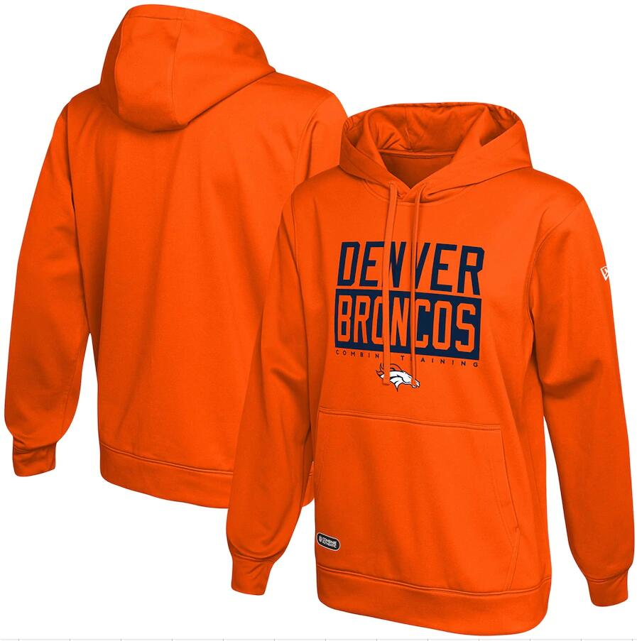 Men's Denver Broncos New Era Orange School of Hard Knocks Pullover Hoodie