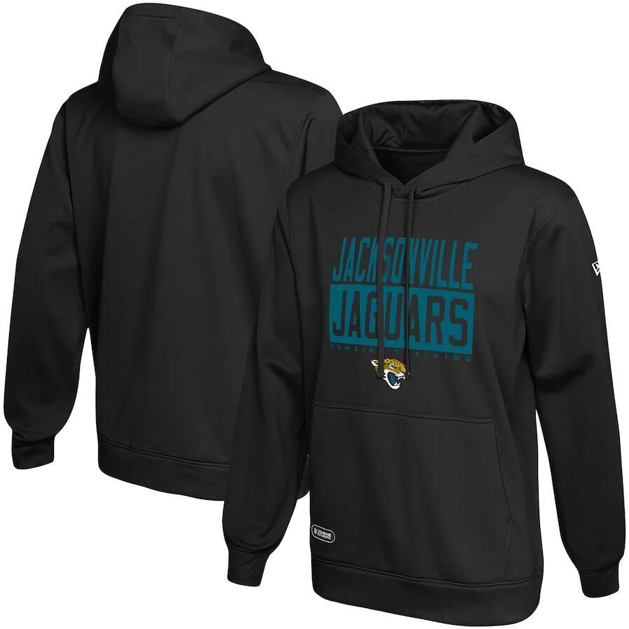 Men's Jacksonville Jaguars New Era Black School of Hard Knocks Pullover Hoodie
