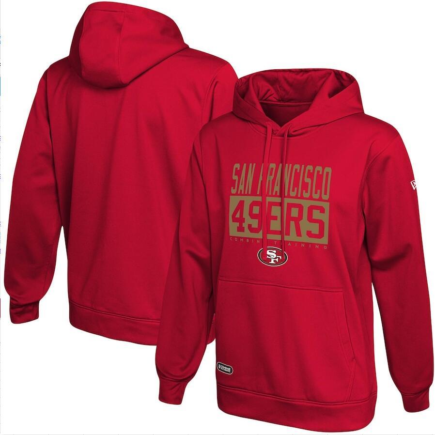 Men's San Francisco 49ers New Era Scarlet School of Hard Knocks Pullover Hoodie