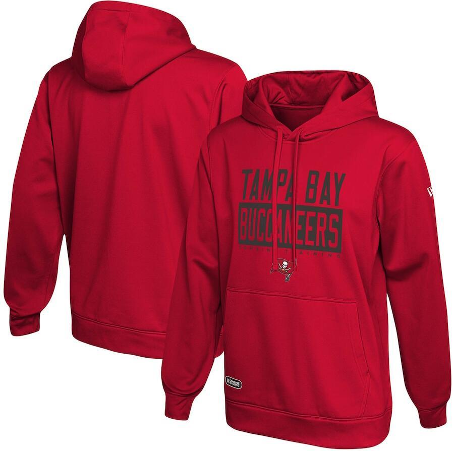Men's Tampa Bay Buccaneers New Era Red School of Hard Knocks Pullover Hoodie