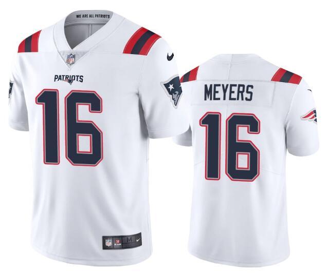 Nike Patriots 16 Jakobi Myers White Vapor Untouchable Limited Jersey