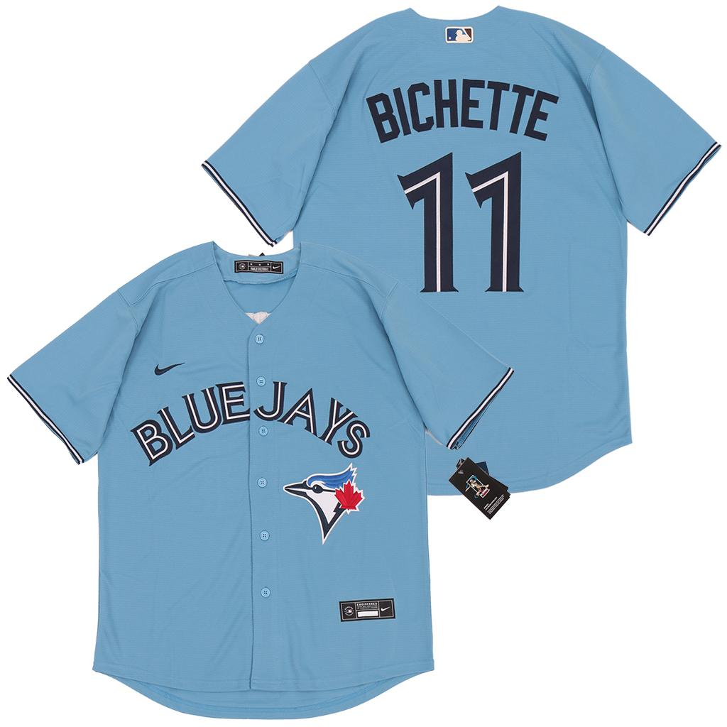 Blue Jays 11 Bo Bichette Light Blue 2020 Nike Cool Base Jersey
