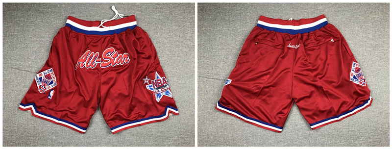1996 All Star Red Just Don Pocket Shorts